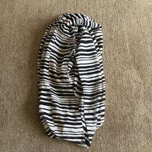 Calvin Klein Striped Semi Sheer Infinity Scarf